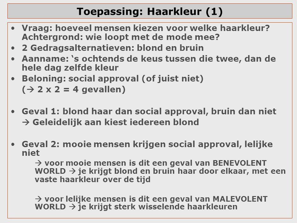 Toepassing: Haarkleur (1)