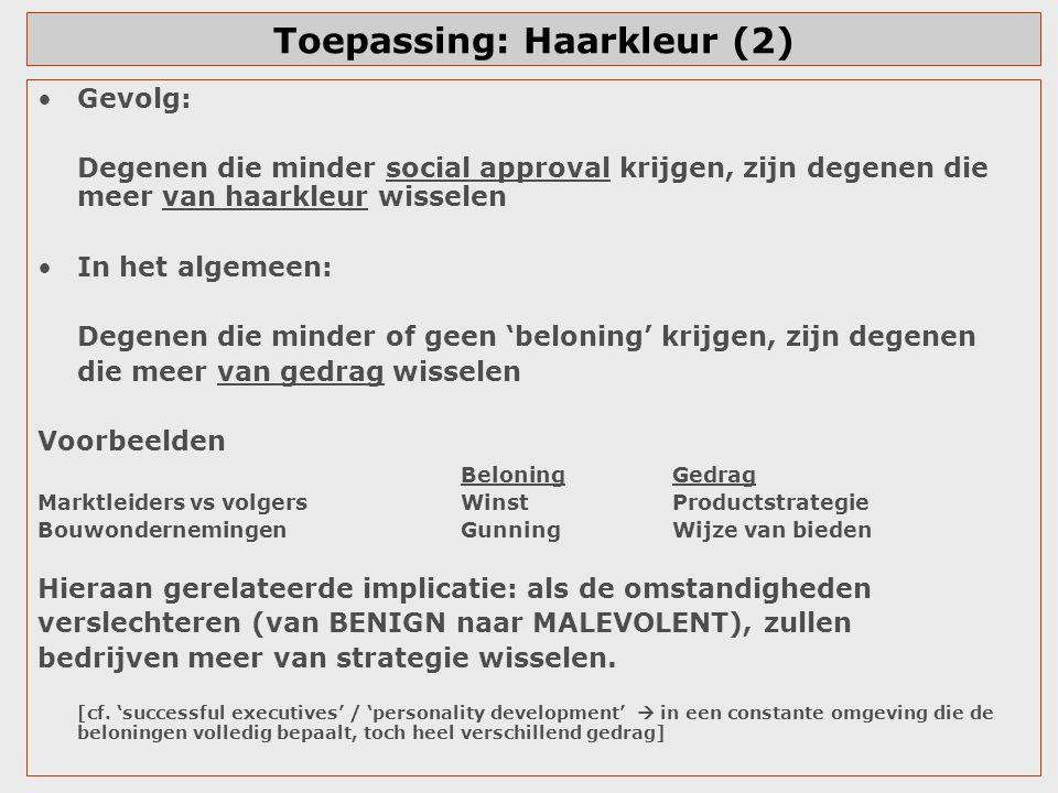 Toepassing: Haarkleur (2)