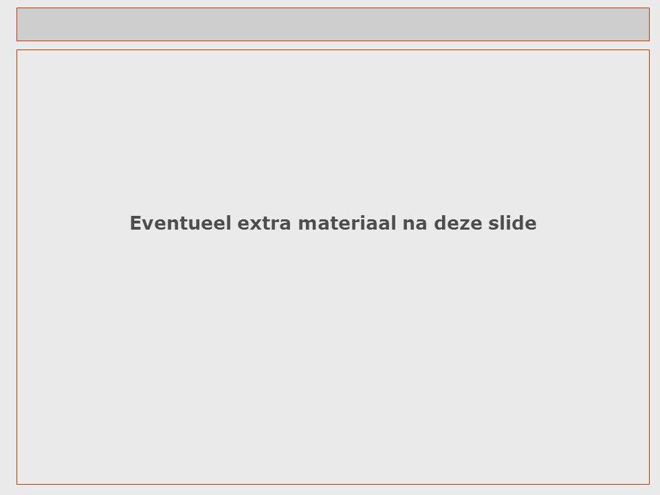 Eventueel extra materiaal na deze slide