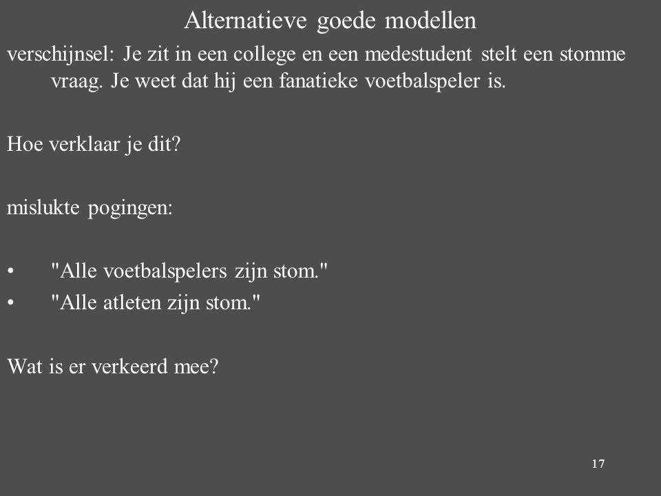 Alternatieve goede modellen