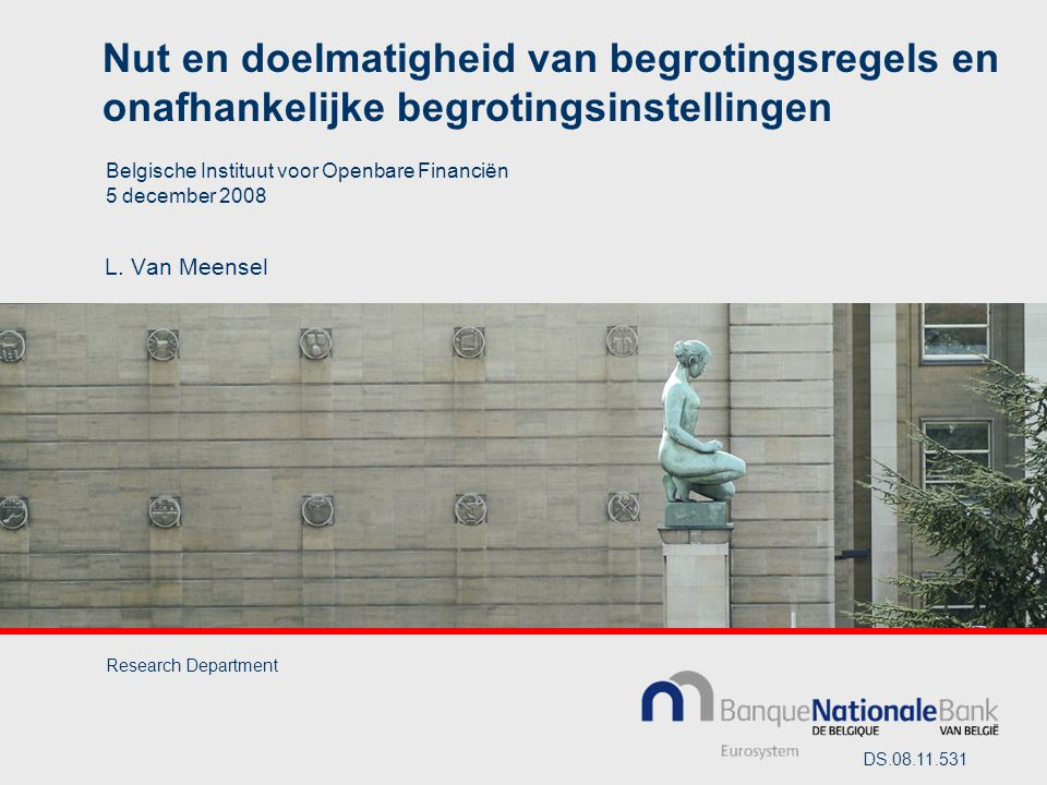 Nut en doelmatigheid van begrotingsregels en onafhankelijke begrotingsinstellingen