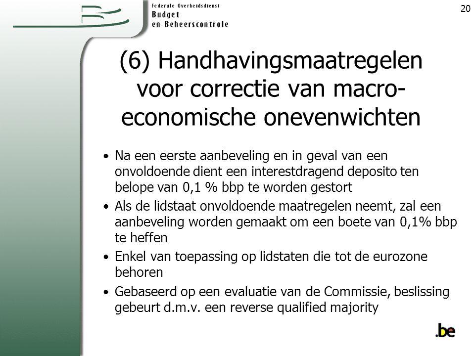 (6) Handhavingsmaatregelen voor correctie van macro-economische onevenwichten