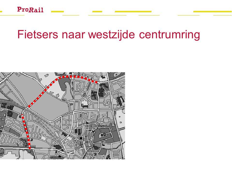 Fietsers naar westzijde centrumring