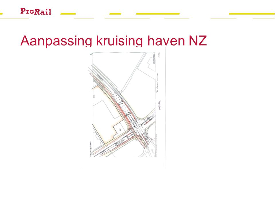 Aanpassing kruising haven NZ