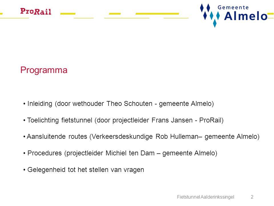 Programma Inleiding (door wethouder Theo Schouten - gemeente Almelo)