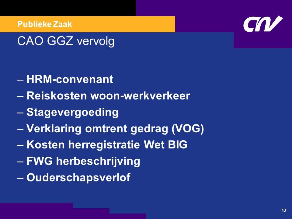 CAO GGZ 2009-2011 Invoering levensfasebudget (LFB)