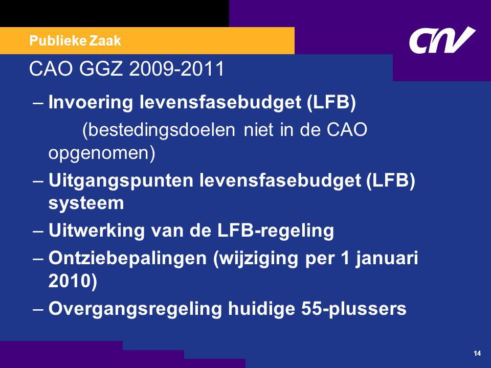 CAO GGZ 2009-2011 Instellingsregeling vergoeding bereikbaarheids-, aanwezigheids- en consignatiedienst.