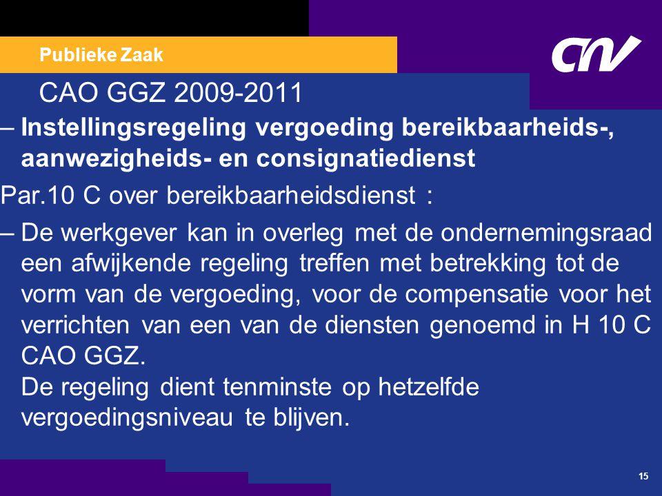 CAO VVT 2010- 2012 Leeftijdsverlof Persoonlijk levensfasebudget (PLB)