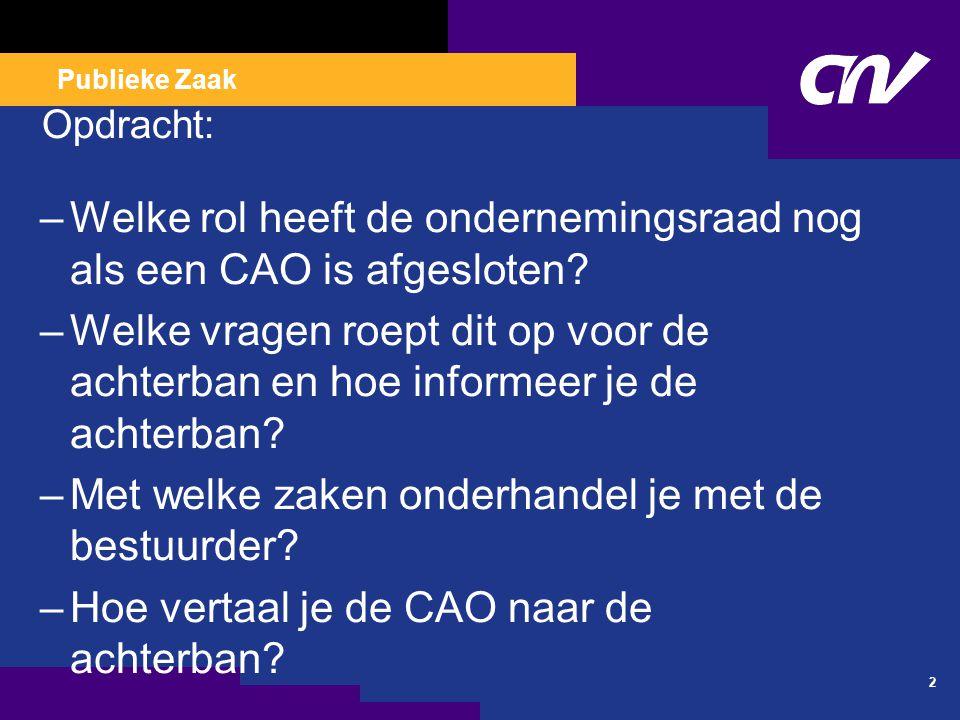 Rechten en faciliteiten ondernemingsraad