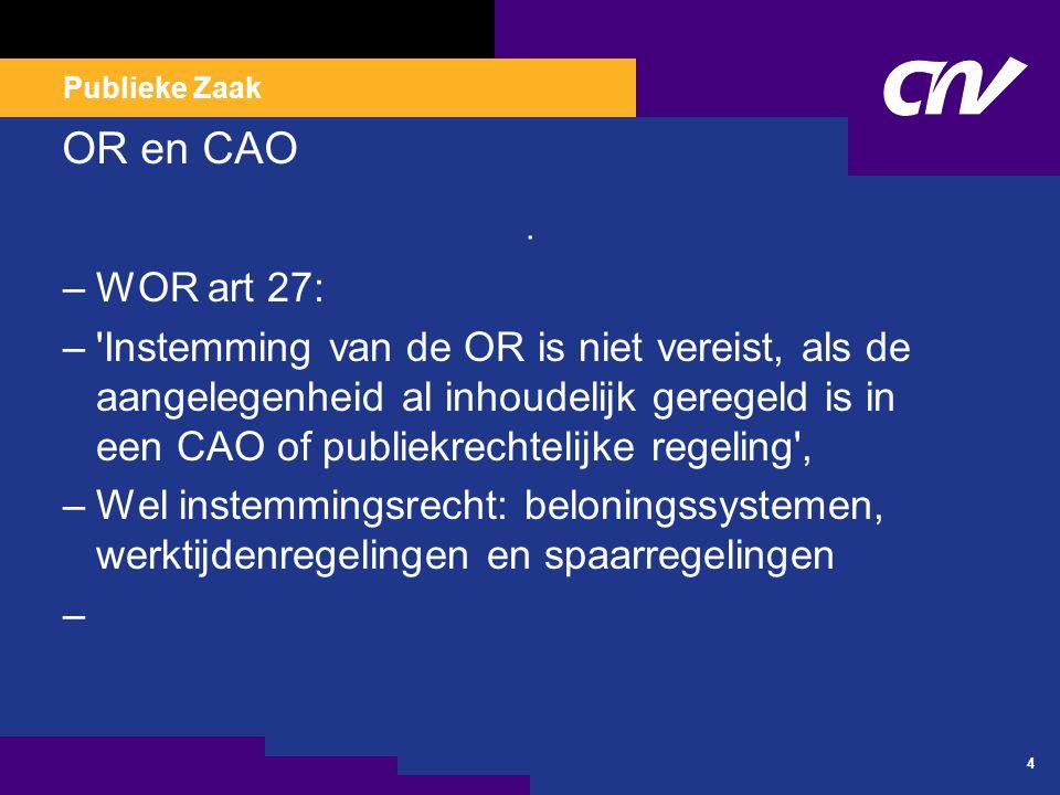 Artikel 25 & 28 WOR Artikel 25 adviesrecht van ondernemingsraden.