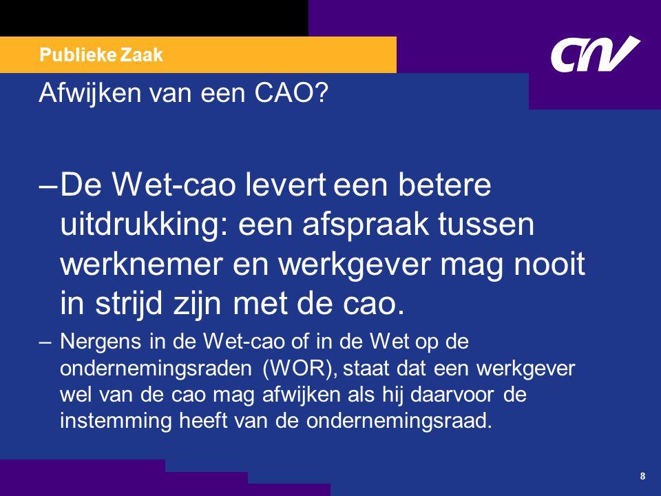 CAO VVT 2008-2010 Loon - Arbeidsduur en werktijden.