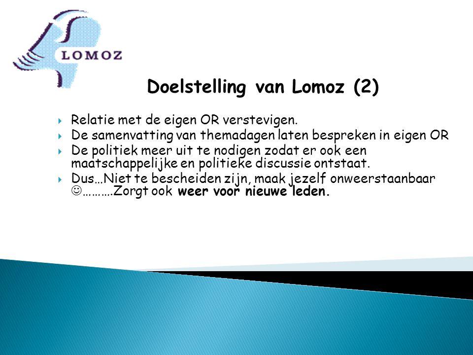 Doelstelling van Lomoz (2)