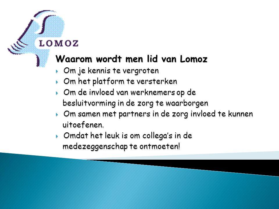 Waarom wordt men lid van Lomoz