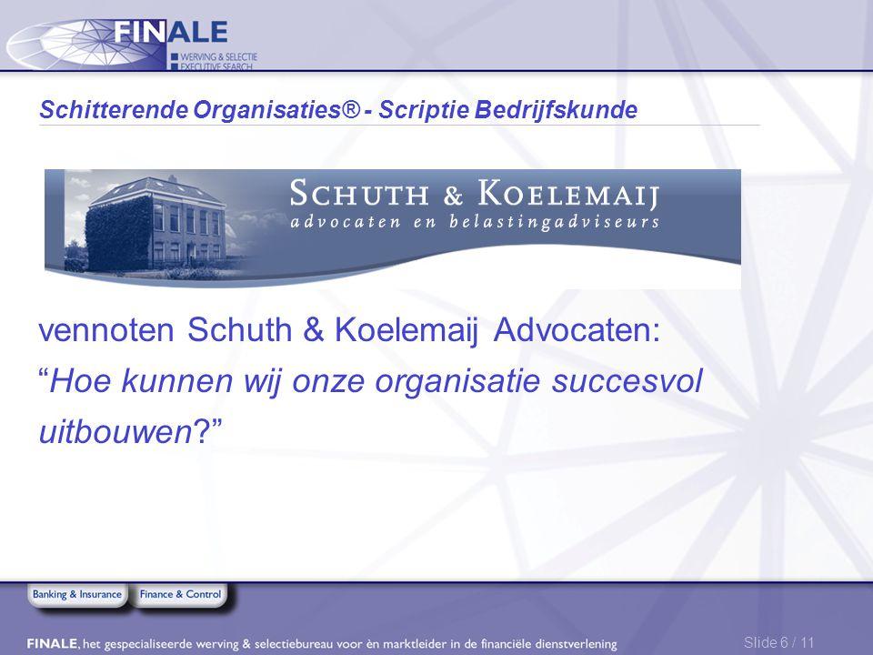 Schitterende Organisaties® - Scriptie Bedrijfskunde