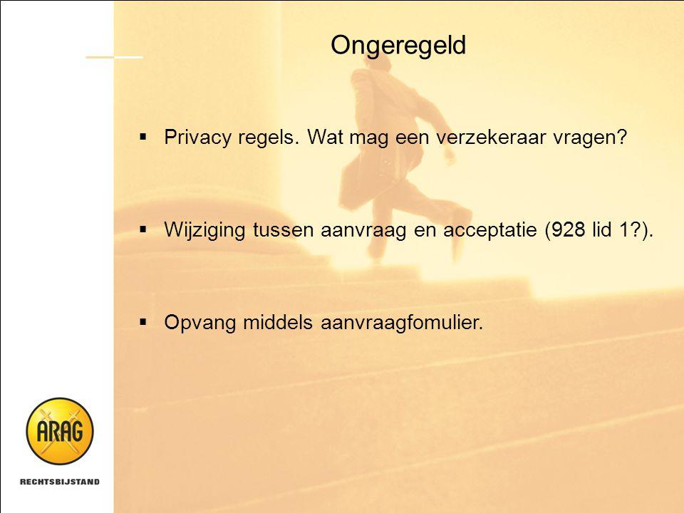 Ongeregeld Privacy regels. Wat mag een verzekeraar vragen