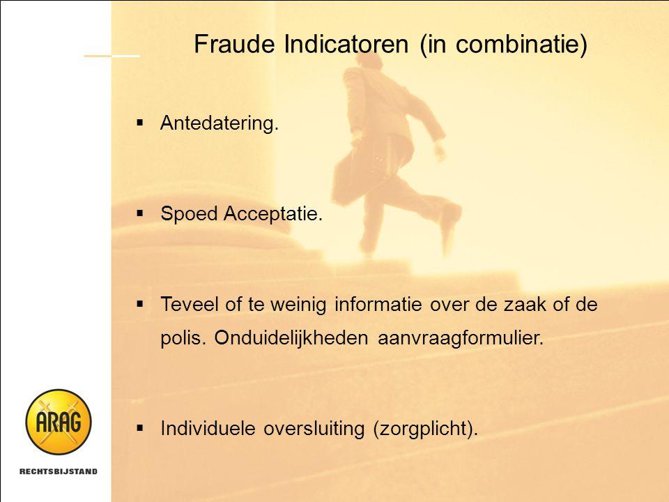 Fraude Indicatoren (in combinatie)