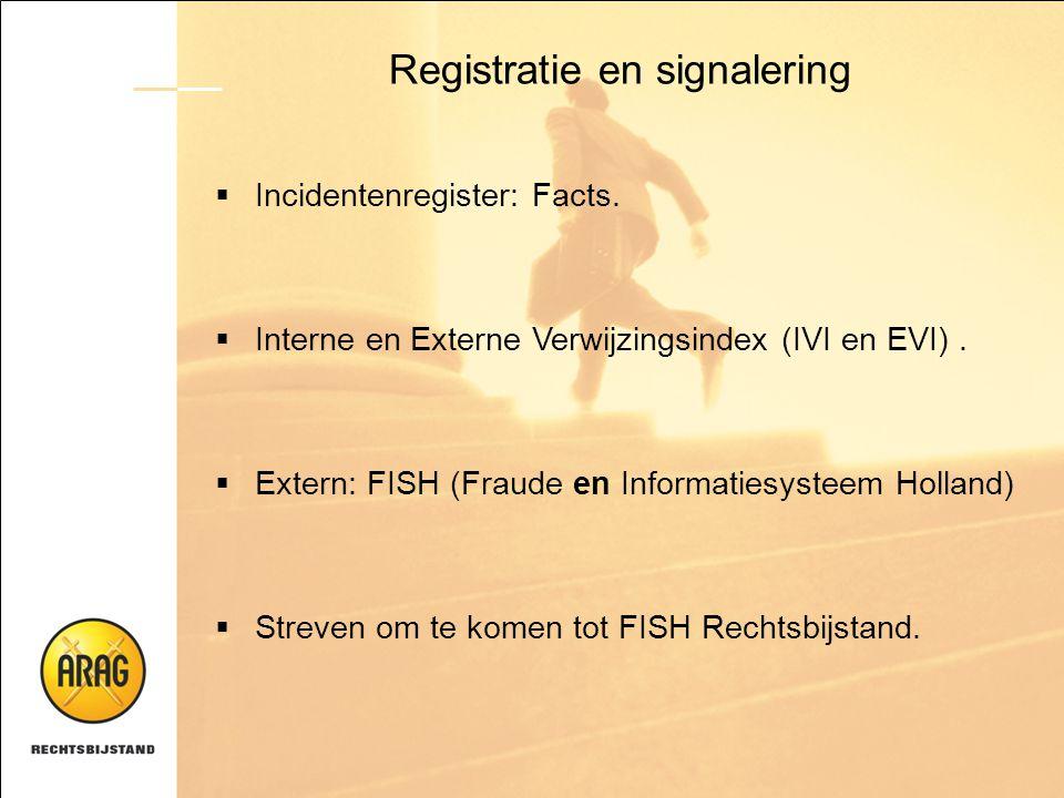 Registratie en signalering