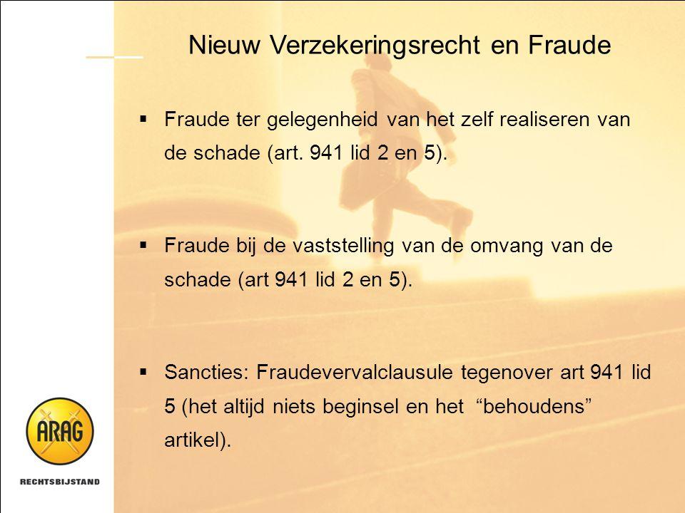Nieuw Verzekeringsrecht en Fraude