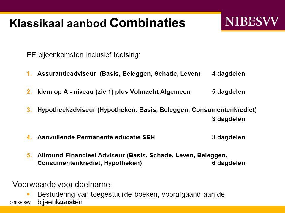 Klassikaal aanbod Combinaties