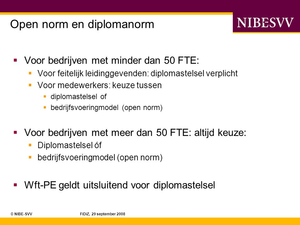Open norm en diplomanorm