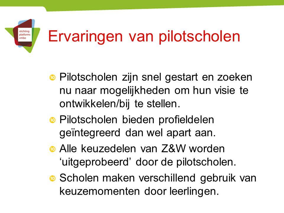 Ervaringen van pilotscholen