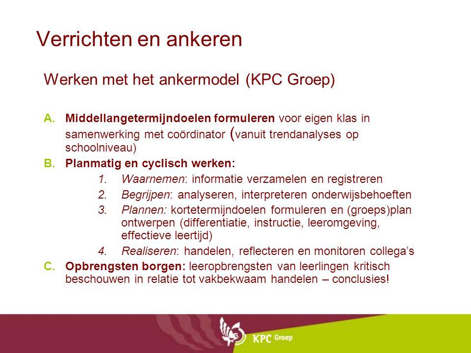 Verrichten en ankeren Werken met het ankermodel (KPC Groep)