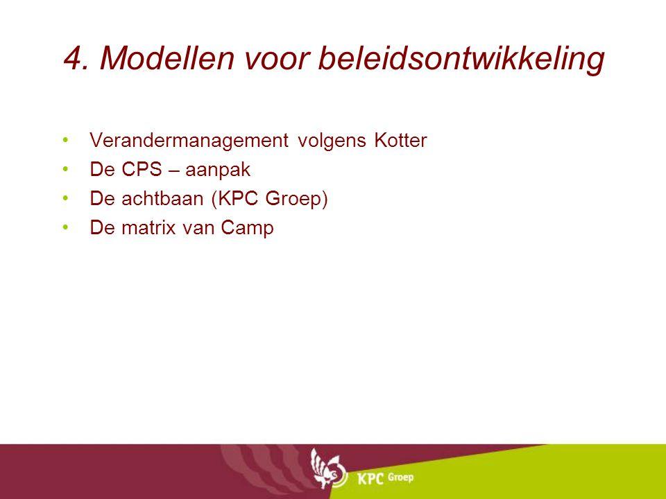 4. Modellen voor beleidsontwikkeling