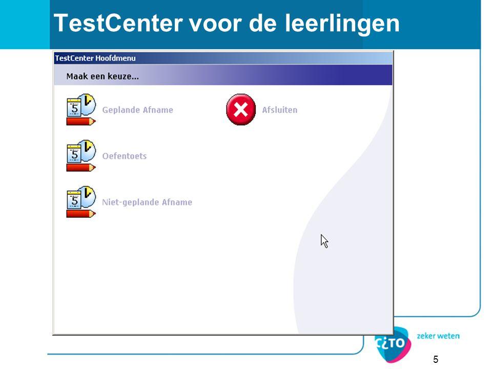 TestCenter voor de leerlingen