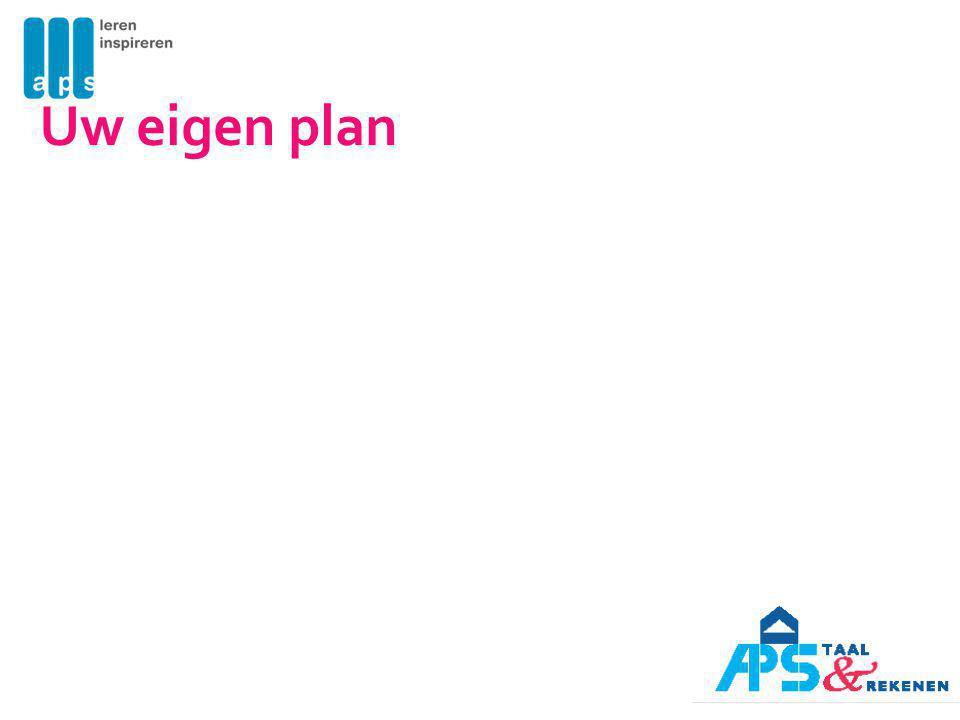 Uw eigen plan