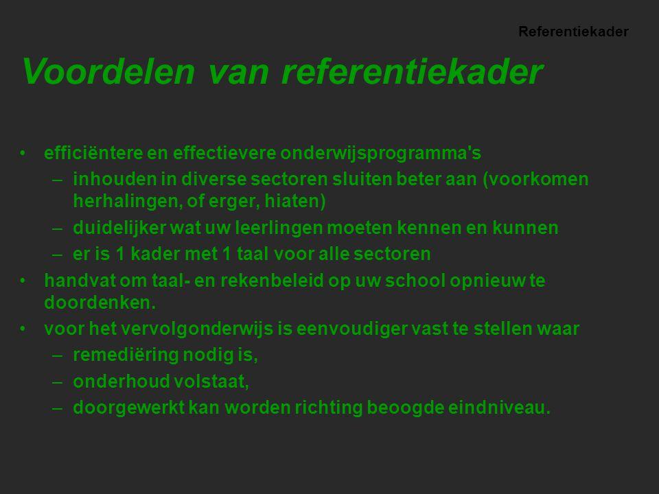 Voordelen van referentiekader