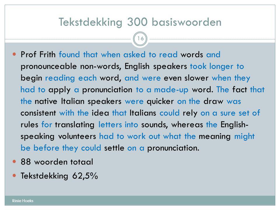 Tekstdekking 300 basiswoorden