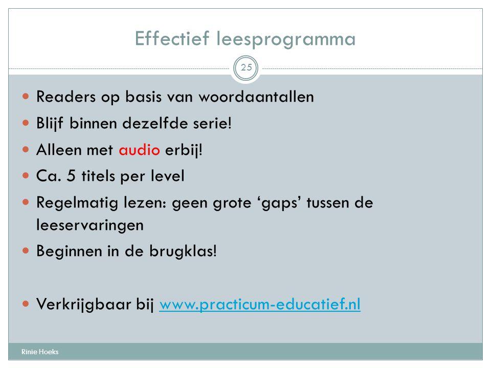 Effectief leesprogramma
