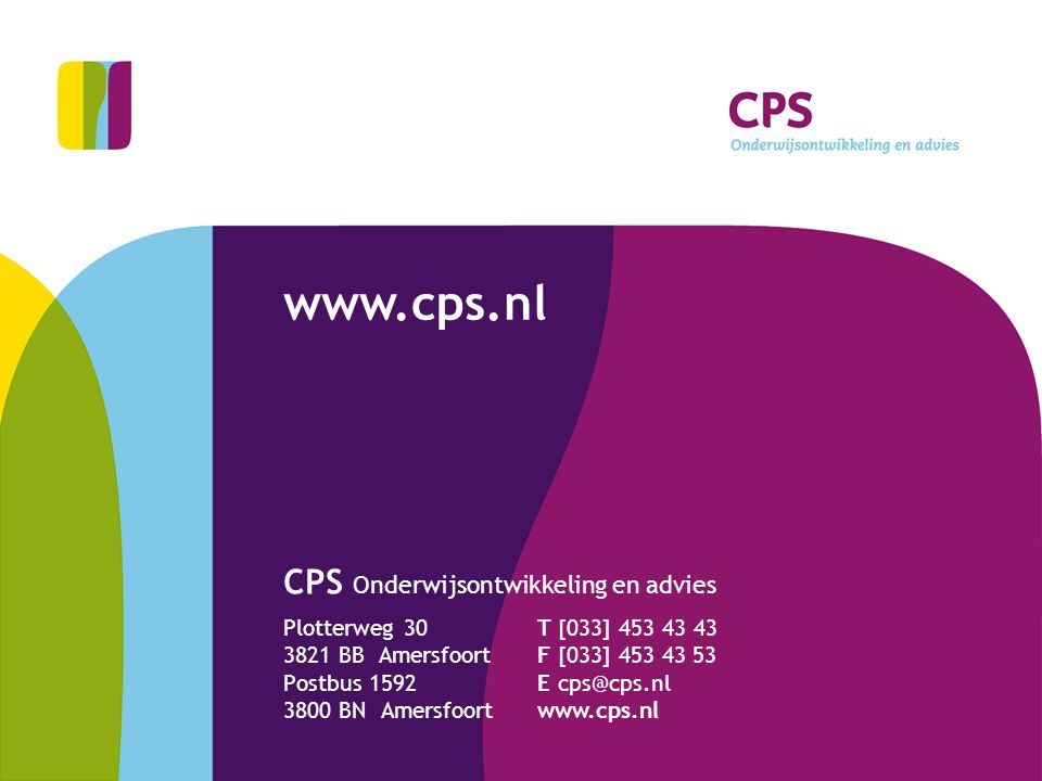 CPS Onderwijsontwikkeling en advies