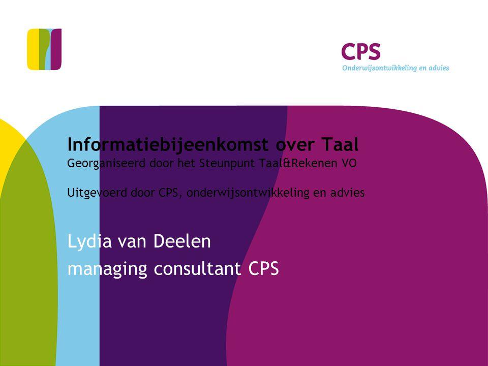 Lydia van Deelen managing consultant CPS