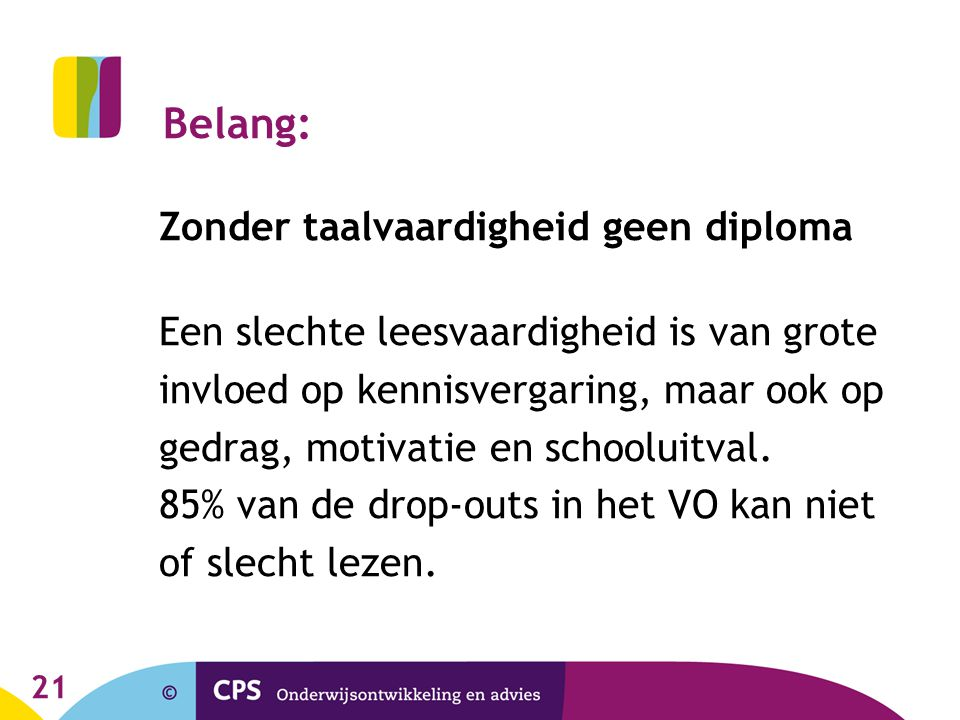 Belang: Zonder taalvaardigheid geen diploma