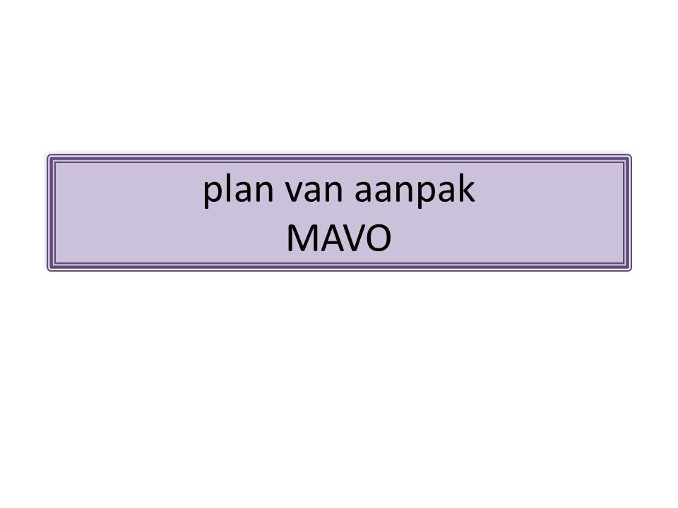 plan van aanpak MAVO