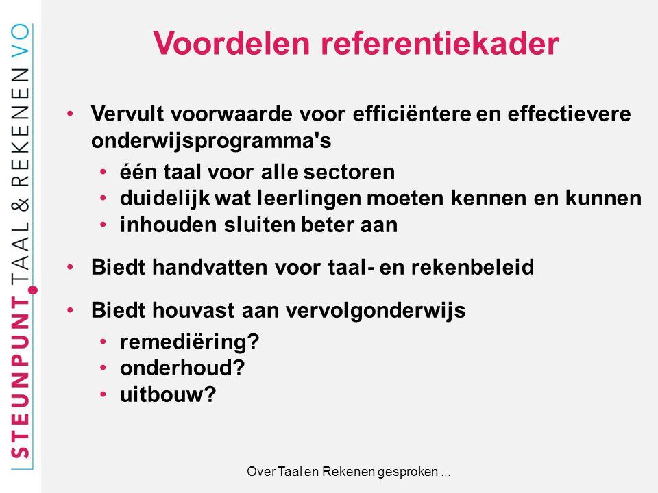 Voordelen referentiekader