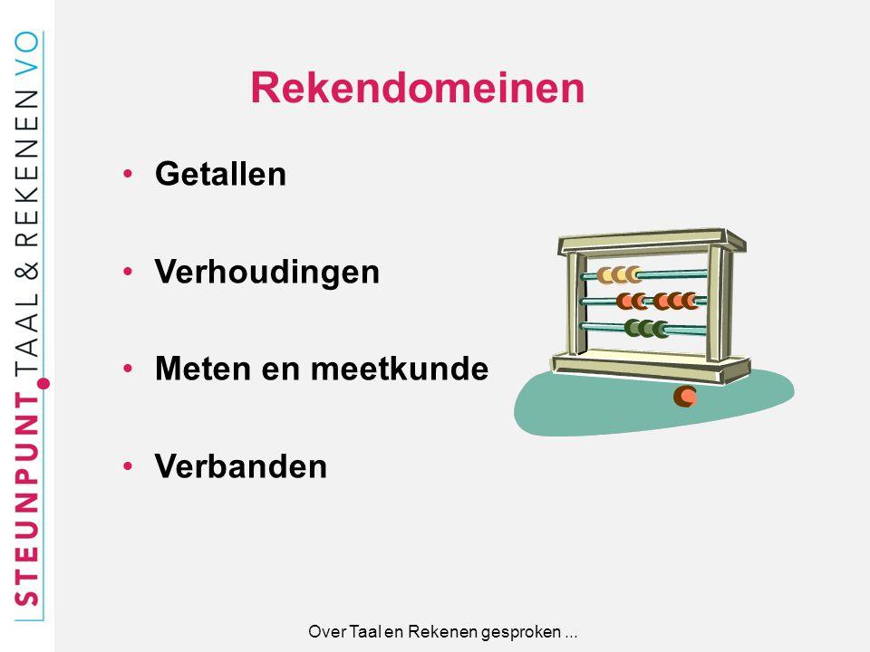 Over Taal en Rekenen gesproken ...