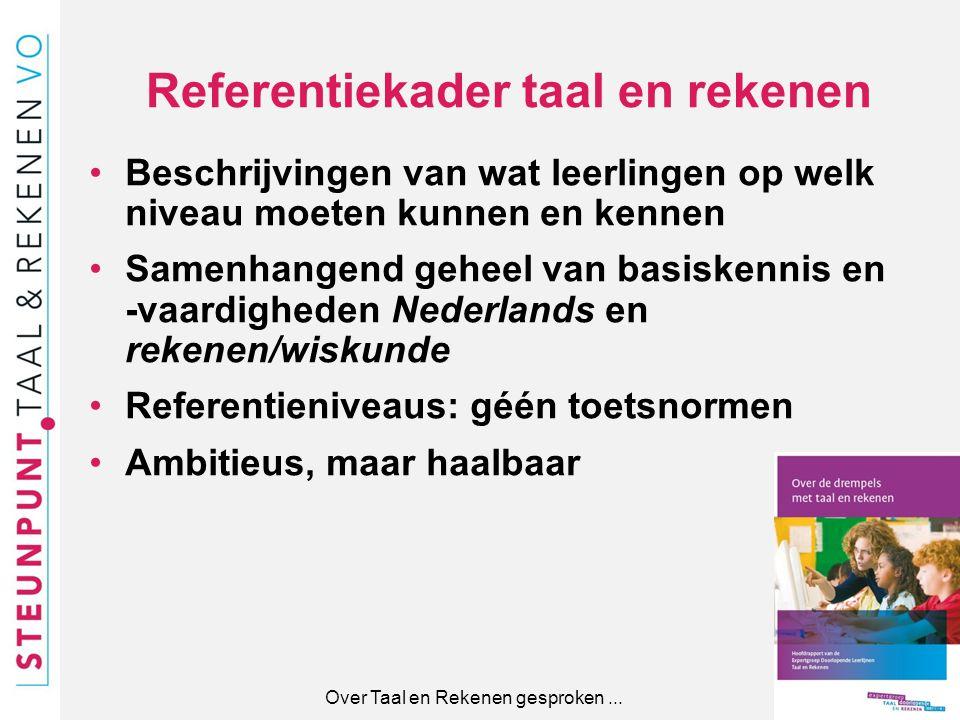 Referentiekader taal en rekenen