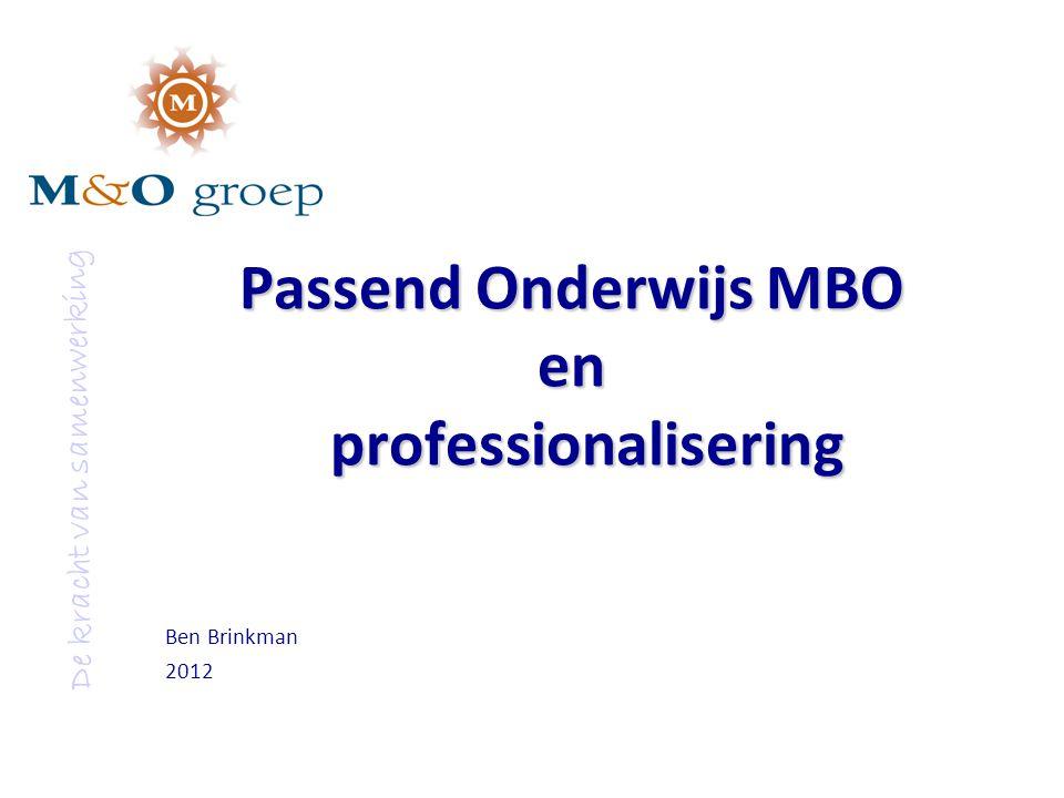 Passend Onderwijs MBO en professionalisering