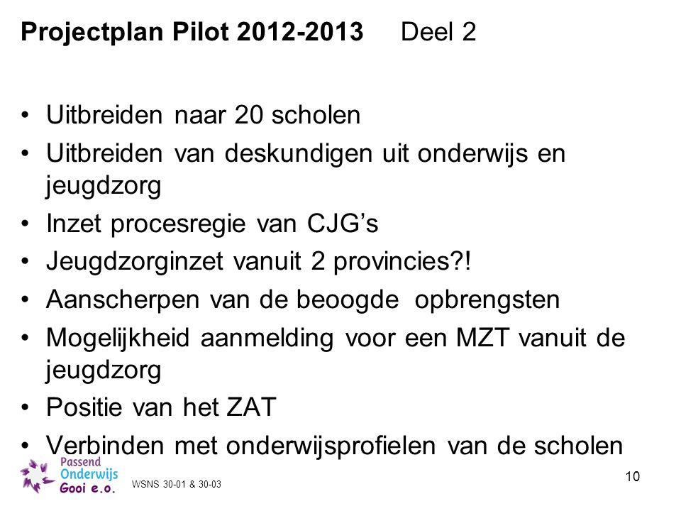 Projectplan Pilot 2012-2013 Deel 2