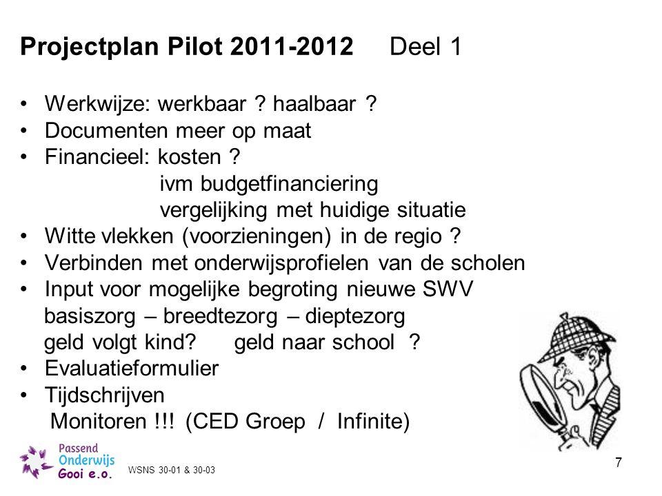 Projectplan Pilot 2011-2012 Deel 1