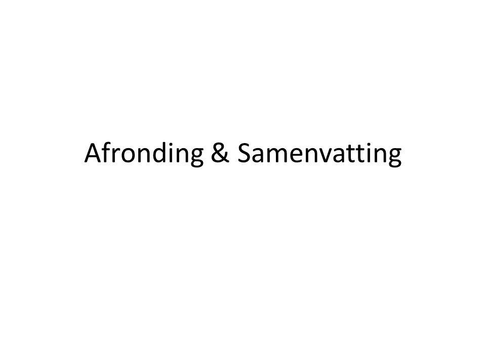 Afronding & Samenvatting