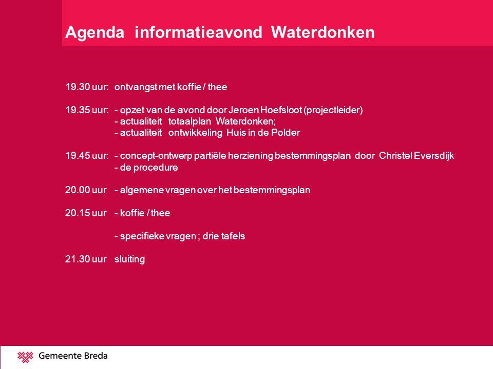 Agenda informatieavond Waterdonken
