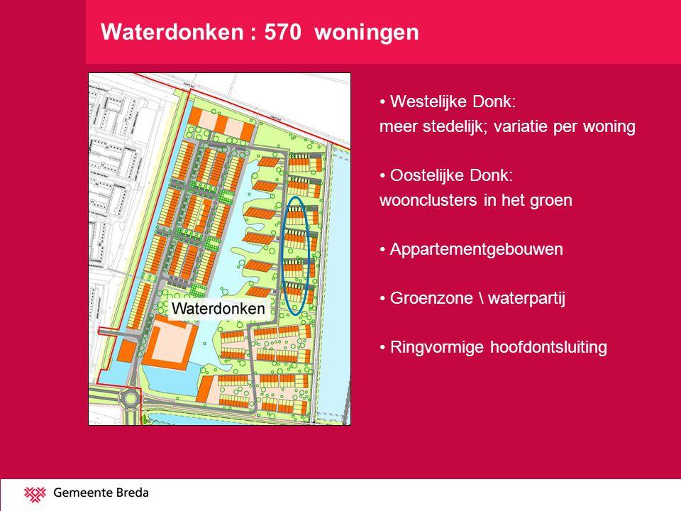 Waterdonken : 570 woningen