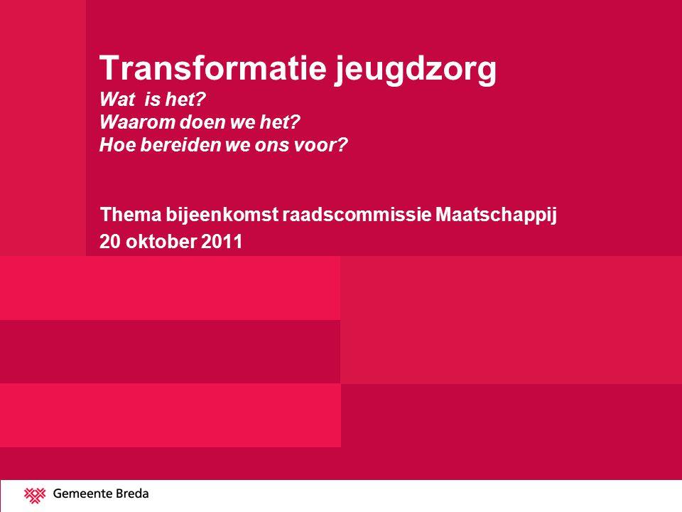 Thema bijeenkomst raadscommissie Maatschappij 20 oktober 2011