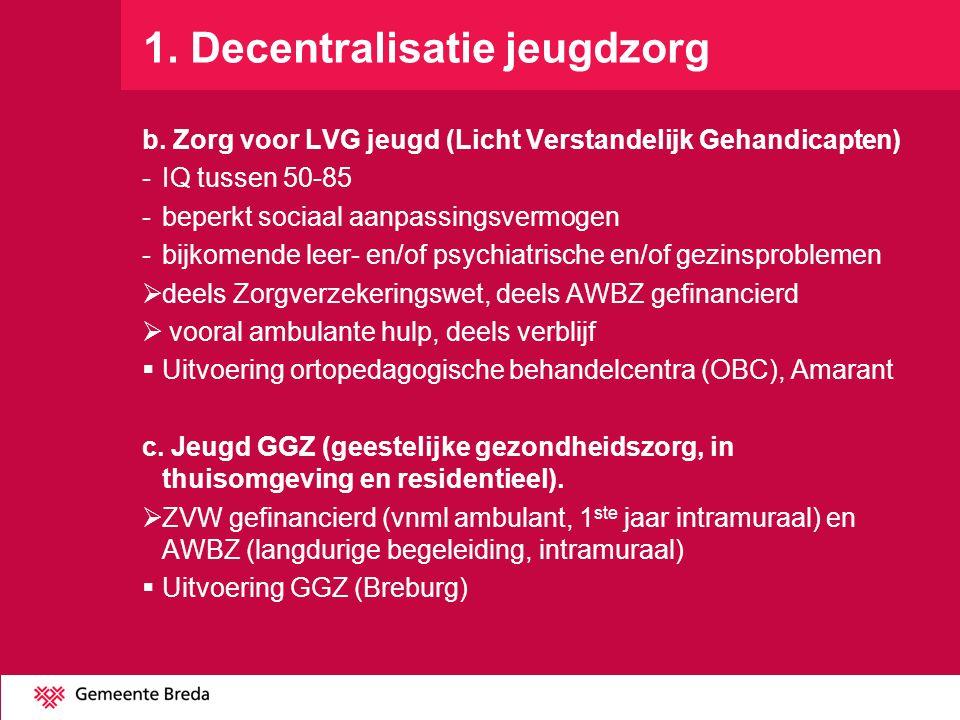 1. Decentralisatie jeugdzorg