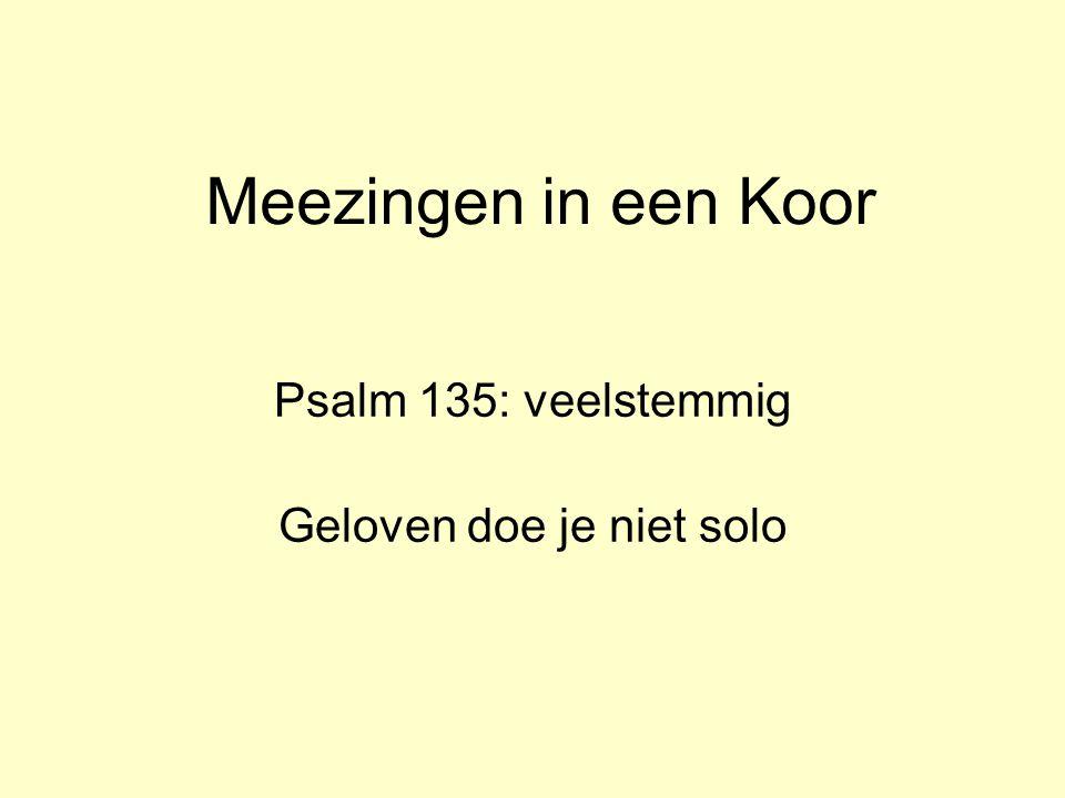 Psalm 135: veelstemmig Geloven doe je niet solo