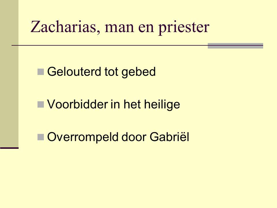 Zacharias, man en priester