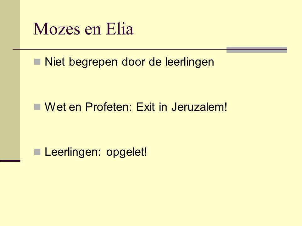 Mozes en Elia Niet begrepen door de leerlingen